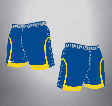 Sublimated Rugby Short Navy/Gold cuff