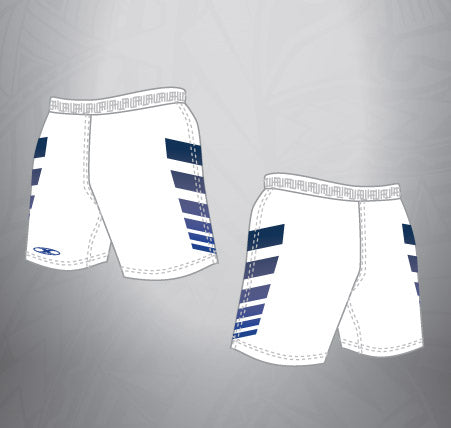 Sublimated Rugby Short White/Navy stripe