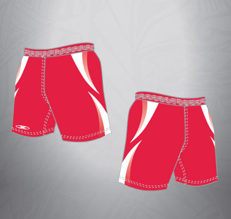 Sublimated Rugby Short Red/White