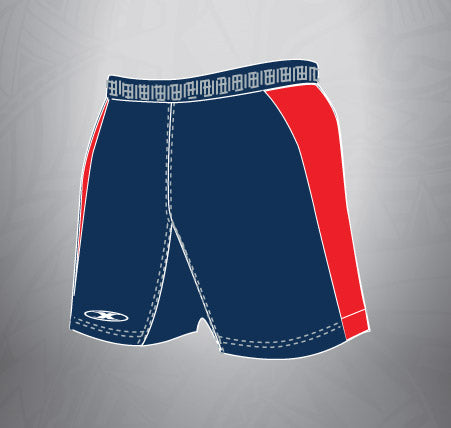 Sublimated Spandex Rugby Short-Navy/Red