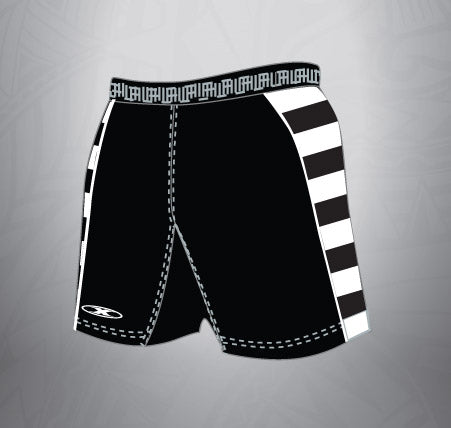 Sublimated Spandex Rugby Short-Black stripe
