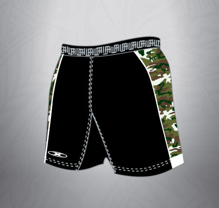 Sublimated Rugby Spandex Short-Black Army