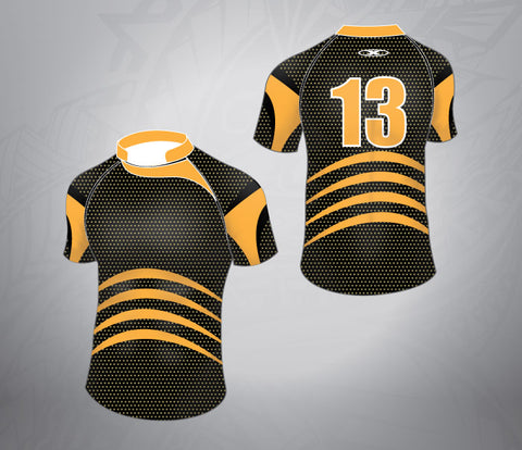 Standard Rugby Jersey-Black/Orange