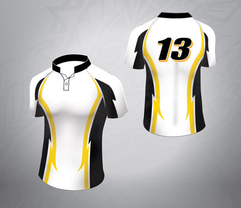 Standard Rugby Jersey-Black Lighting