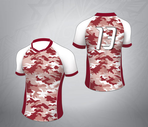 Standard Rugby Jersey-Maroon/White Camo