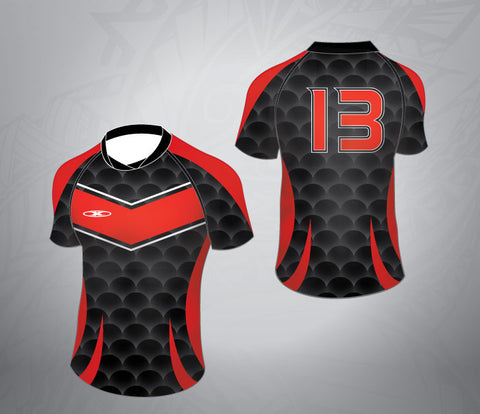 Standard Rugby League Jersey-Black/Red