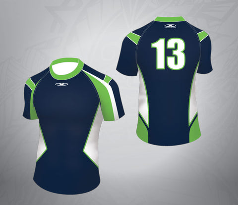 Standard Rugby Jersey-Navy/Lime/White