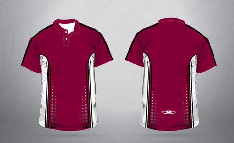 Polo-Maroon/White-Men