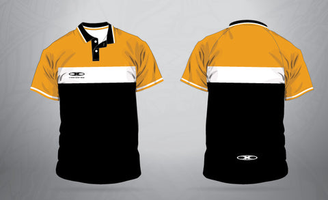 Classic sublimated Team Polo-Gold/White/Black