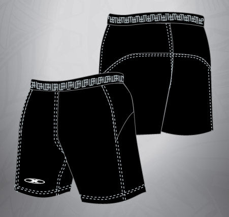 Vented Dri-fit  Rugby Shorts-Black