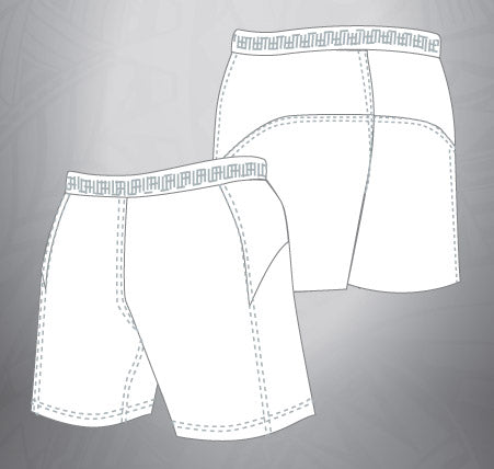 Vented Dri-fit Rugby Shorts-White