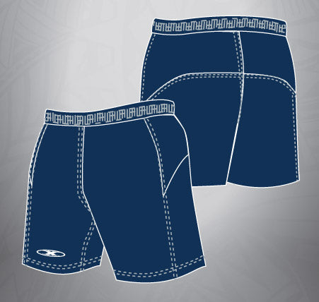 Vented Dri-fit Rugby Shorts-Navy
