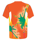 X-treme Warmup Shirt Orange Splat