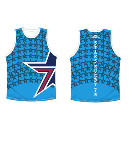 Star Electic Blue Singlet-Men