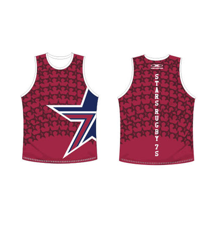 Star's Maroon Singlet- Men