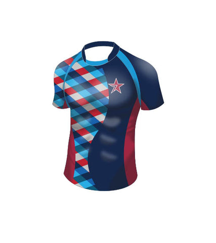 STAR's Pro Fit Rugby Jersey Navy-Men