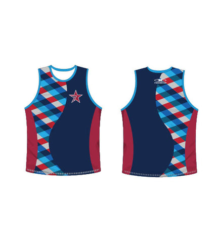 Star Navy Singlet-Men