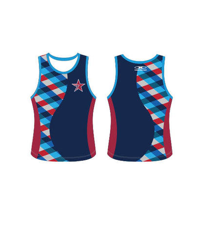 Star Navy Singlet-Women