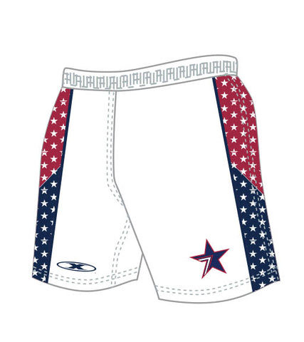 Stars White sublimated Rugby shorts