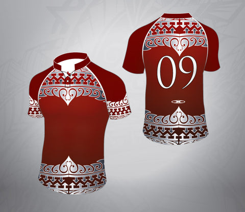 Tattoo Rugby Jersey- Maroon