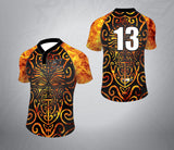 Tattoo Rugby Jersey-Black/Orange