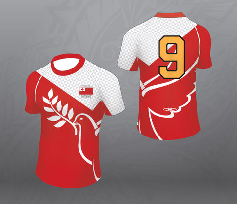 Tonga Rugby Jersey-Red Bird-Women