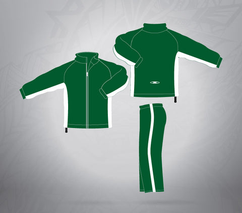 Tracksuit - Forest Green/ White