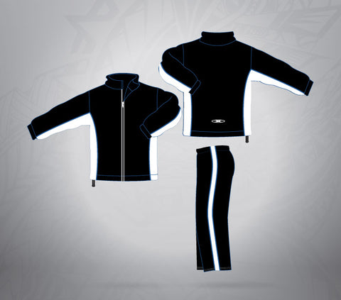 Sublimated Tracksuit Black/White