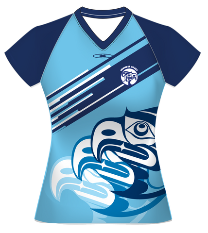 VIT Womens Blue Warmup Shirt 2018