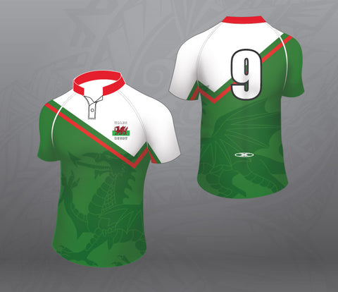 Wales Rugby Jersey-Green-Women
