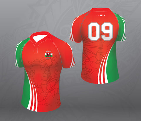 Wales Rugby Jersey-Red-Women