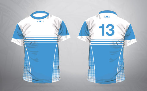 Warm up shirt- Electric Blue fade
