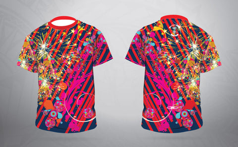 Fire work Warm up shirt