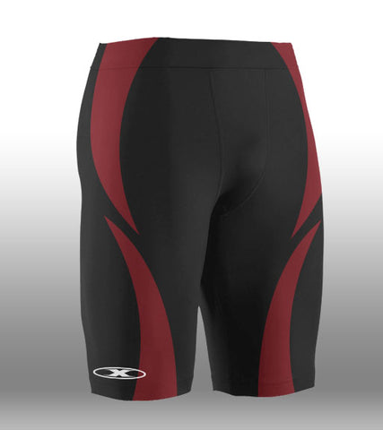 X-skin Black/Red compression Short