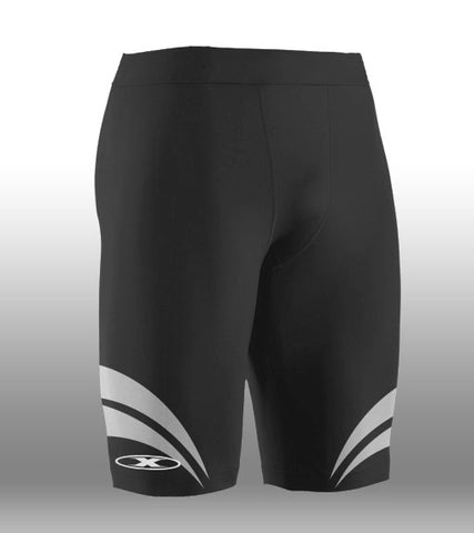 X-skin Black/White compression Short