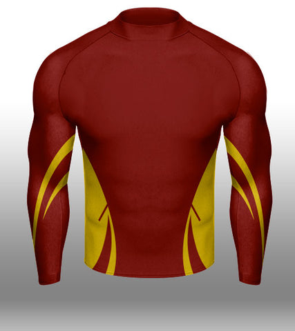 X-skin Red/Gold LS Compression