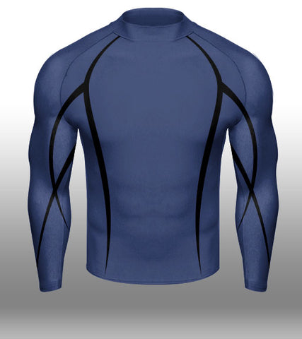 X-skin Navy/Black LS compression
