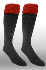 Rugby Sock- Black/Red