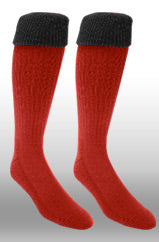 Rugby Sock- Red/Black