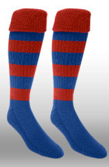 Hoops Rugby Sock- Red/Royal