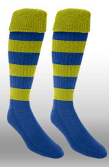 Hoops Rugby Sock- Gold/Royal