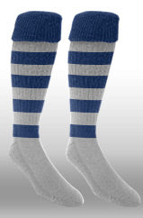 Hoops Rugby Sock- Navy/white