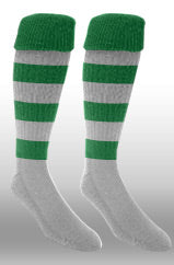 Hoops Rugby Sock- Green/white