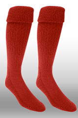 Rugby Sock- Red