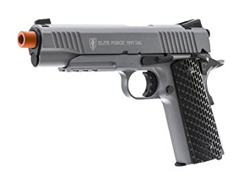 Elite Force Full Metal 1911 Tactical CO2 Airsoft GBB Pistol- Stealth Grey