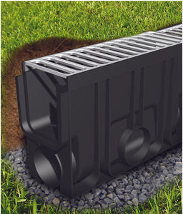 Rain Drain Inline Catch Basin Stainless Steel - Rendered Image