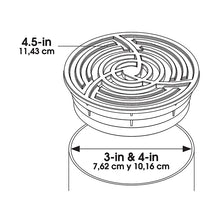 3inch & 4inch Round Black Grate Specifications Drawing