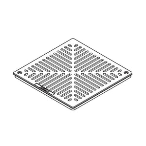 12inch x 12inch Aluminum Catch Basin - Grate Only Specification Drawing