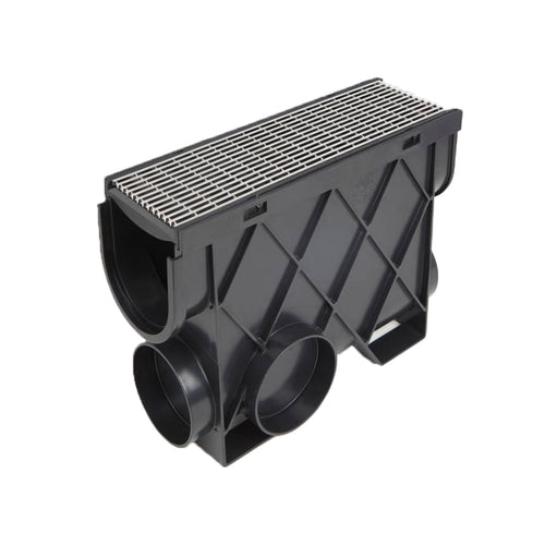 Storm Drain Inline Pit with 316 Architectural Grate