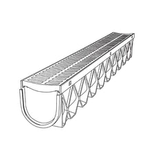 Storm Drain 10ft Channel with Stainless Steel Grate